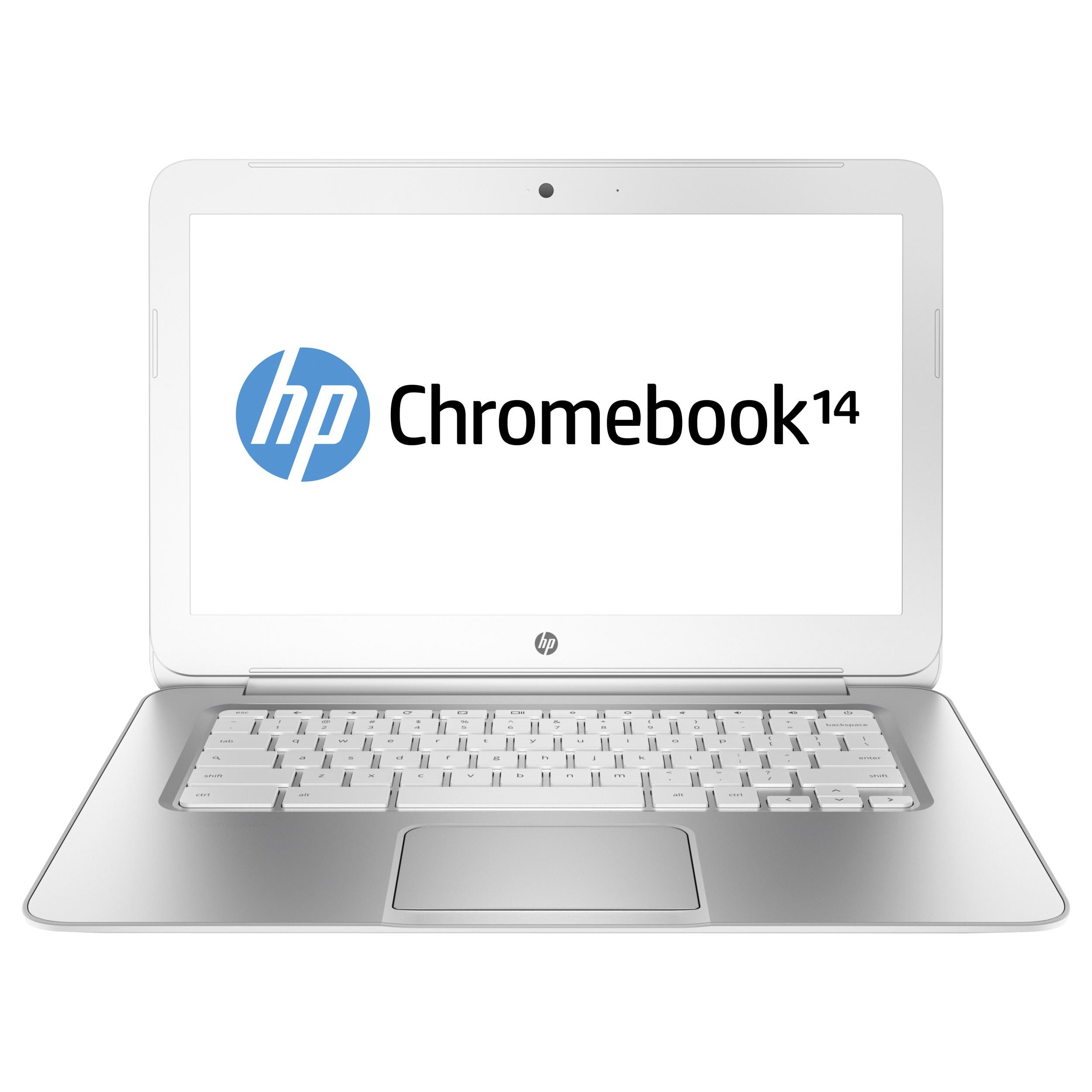 "HP Chromebook 14 G1 14"" Celeron 2955U 4 GB RAM 16 GB SSD (White) - F7W49UA#ABA (Refurbished, Scratches & Dents)"