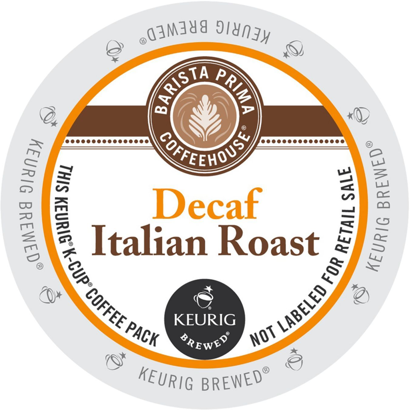Barista Primahouse Decaf Italian Roast Coffee, K-Cup Portion Pack for Keurig Brewers