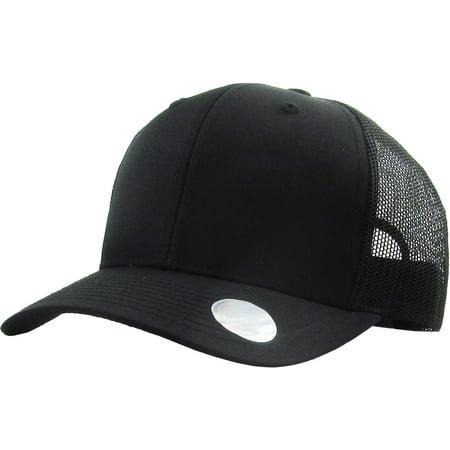 Classic 6 Panel Mesh Cotton Twill Trucker Cap Adjustable Snapaback Hat