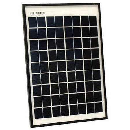 10w Solar Panel - ALEKO SPU10W24V Monocrystalline Modules Solar Panel, 10W. 24V