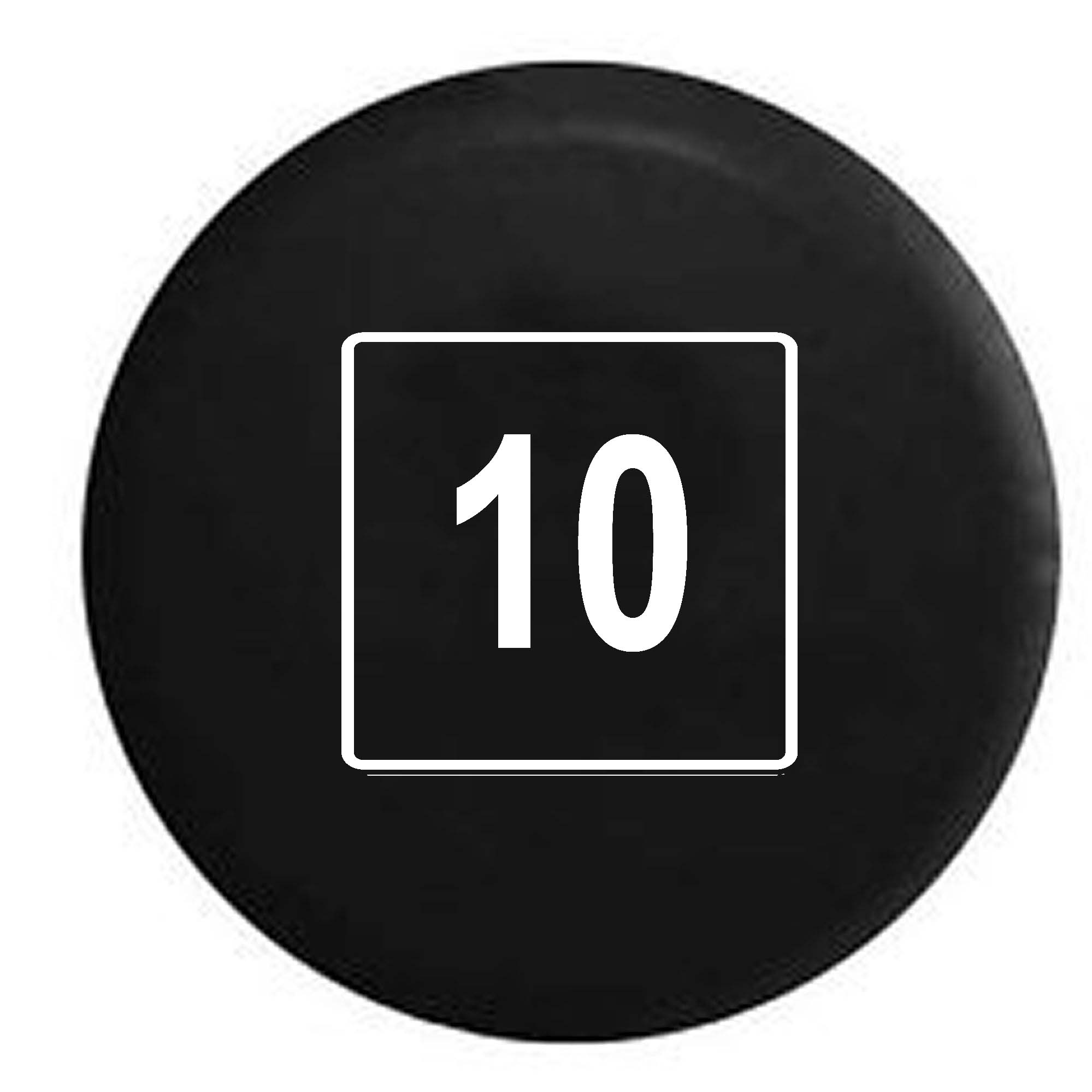 Rhode Island State Route Highway 10 Scenic Road Sign Spare Tire Cover Vinyl Black 31 in