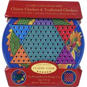 Chinese Checkers and Traditional Checkers Tin