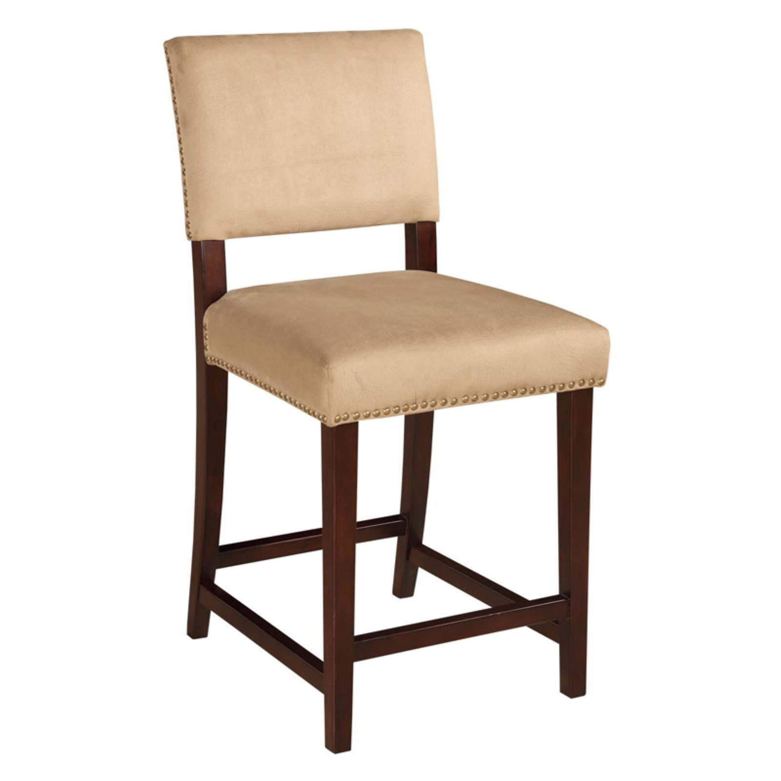 Linon Corey Bar Stool, Stone, 30 inch Seat Height