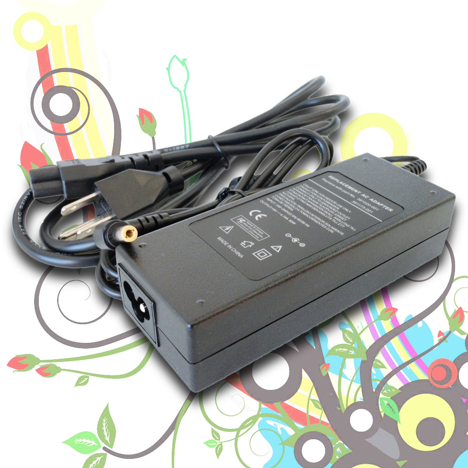 90W AC Power Adapter for Toshiba Satellite A135-S2326 A305-S6857 M305D A505 P305