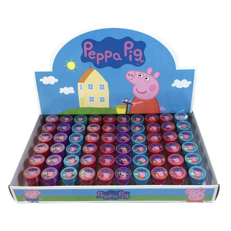 60 PCS Peppa Pig Self-inking Stamp Birthday Party Favors Stampers