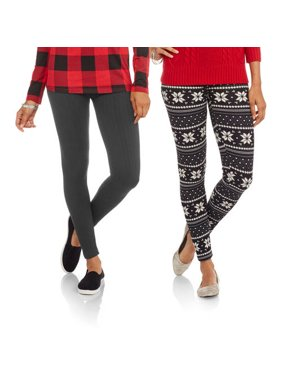 902c1e797bf77b Product Image Juniors' Holiday Fleece Lined Leggings, ...