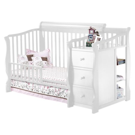 Sorelle Tuscany 4 In 1 Convertible Crib And Changing Table