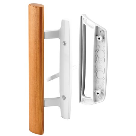 Prime Line Products C 1204 Diecast with wood handle White Patio Door H