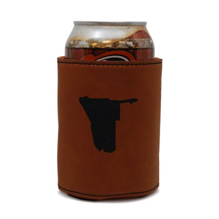 Namibia Leather Can Sleeve, Beer Sleeve, Beer Cooler, Beer Hugger