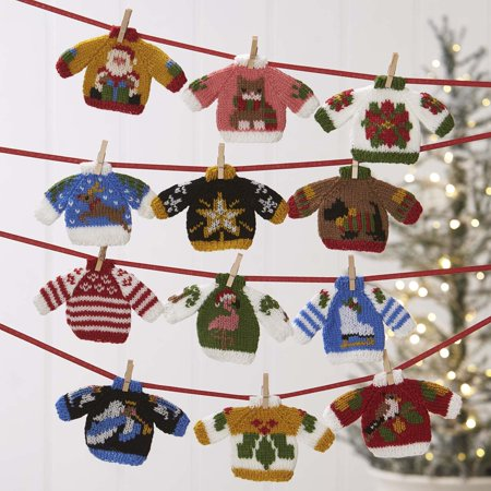 Herrschners® Ugly Sweater Knit Ornaments II - Ugly Ornaments