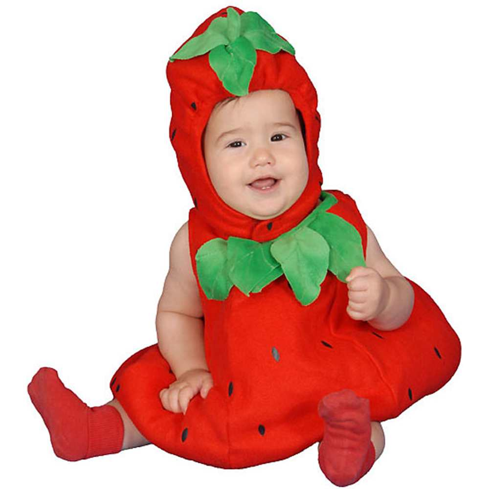 Dress Up America Baby Strawberry, Red, 6-12 Months