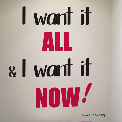 Brewster Home Fashions Euro I Want It All Quote Wall Decal