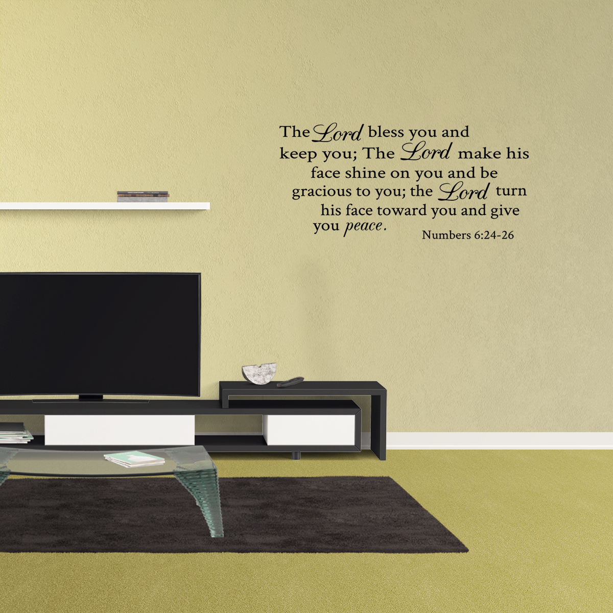 Wall Decal Quote The Lord Bless You And Keep You Numbers 6:24-26 ...