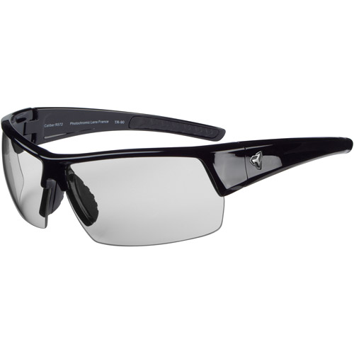 Ryders Eyewear Caliber Black Frame Sunglasses, Gray Lens