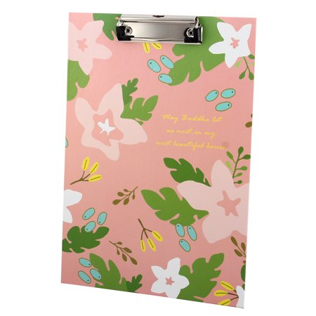 Office School Wooden Plant Pattern Clipboard Hardback File Clip Board Filing - Clap Boards