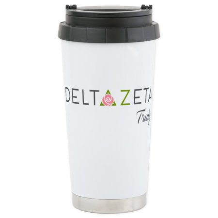 CafePress - Delta Zeta Truly Stainless Steel Travel Mug - Stainless Steel Travel Mug, Insulated 16 oz. Coffee Tumbler (Delta Zeta Car Decal)