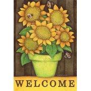"Autumn Buzz Welcome Garden Flag Sunflowers Fall Briarwood Lane 12.5"" x 18"""