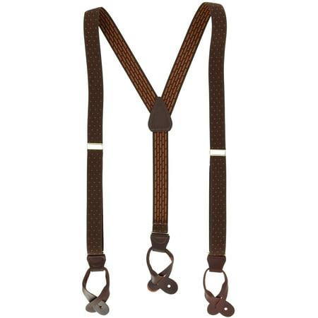 Ascentix  Elastic Dress Double Pin Dot Button-End Suspenders (Men's) Mens Pin Dot