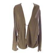 Lunn Women's Citadin Long Sleeve Ruched Cardigan 4 (XL) Chicoree
