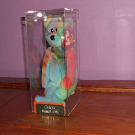 TY Beanie Baby - GARCIA the Ty-dyed Bear (4th Gen hang tag)](Beanie Baby Tag Halloween)