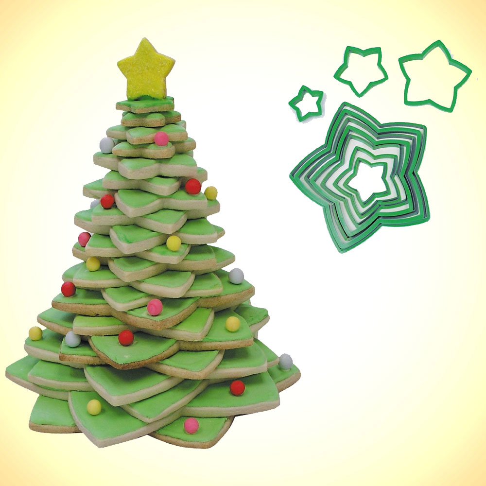 Christmas Tree Cookie Cutter 10 Pc Set