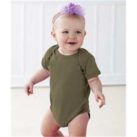 Rabbit Skins Infant Fine Jersey Lap Shoulder Bodysuit
