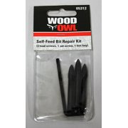 "WoodOwl 05312 Replacement Kit for 1"" - 2-9/16"" (3 lead screws, 1 set screw, 1 hex key)"