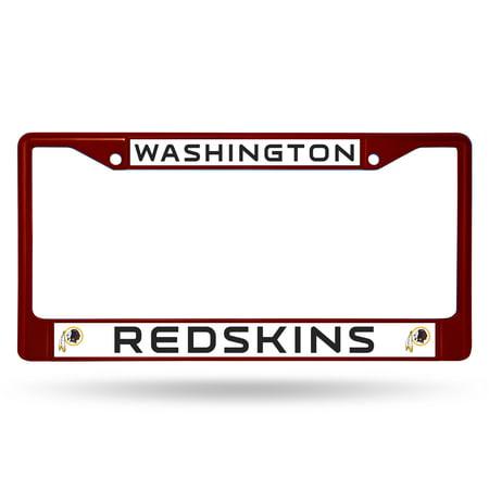 Washington Redskins Metal License Plate Frame - Maroon - Walmart.com