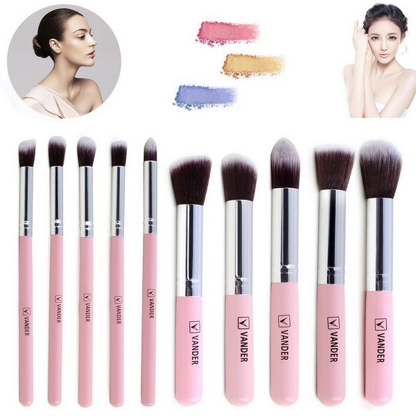 New 10PCS Cosmetic Foundation Blending Brush Makeup Tool Set smt