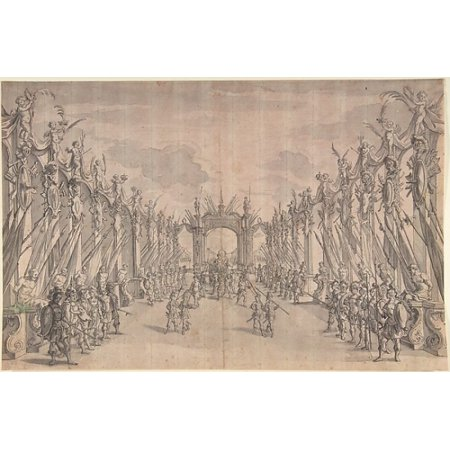 Triumphal Entry - Triumphal Entry of King Poster Print by Anonymous German 17th century (18 x 24)