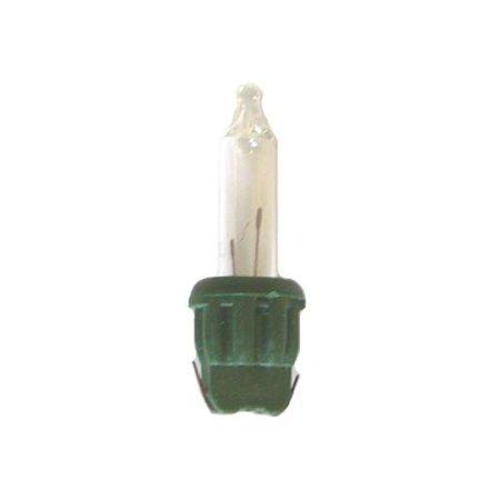 100 Multi Color Dura-Lit Replacement A-Tree Bulbs / Green Husk Christmas Bag Set ()