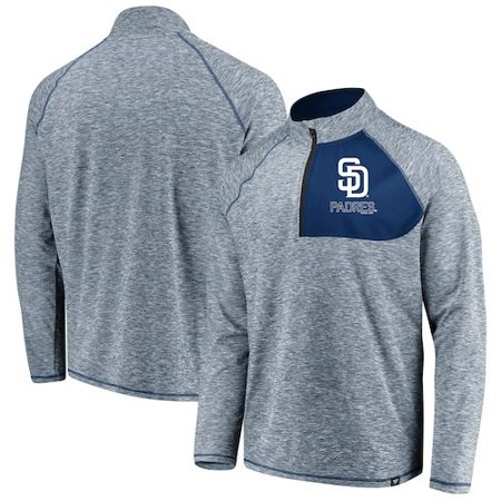 San Diego Padres Fanatics Branded Made 2 Move Quarter-Zip Jacket - - San Diego Chargers Classic Jacket
