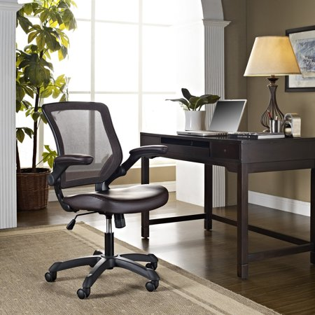 Modway Veer Mesh Back Leatherette Seat Office Chair, Multiple Colors Director Leatherette Office Chair