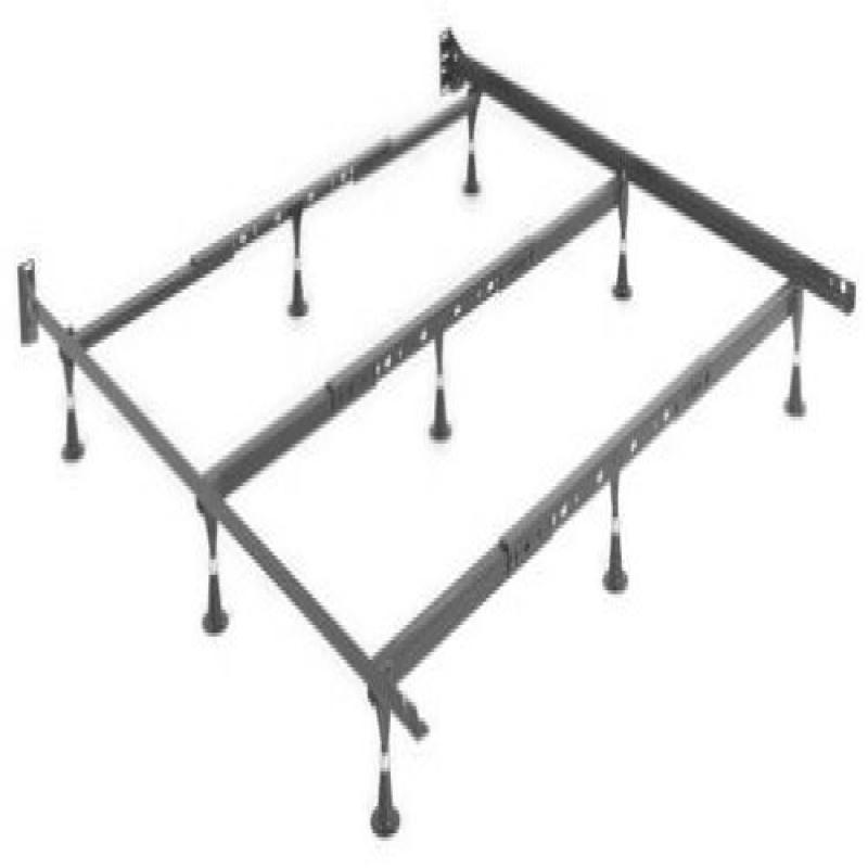 Strobel Organic Heavy-Duty Metal Bed Frame for Regular Be...