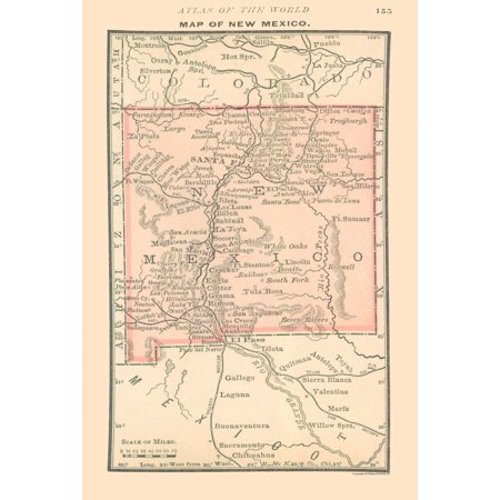 Old State Map New Mexico Alden 1886 23 X 34 18 Walmart Com