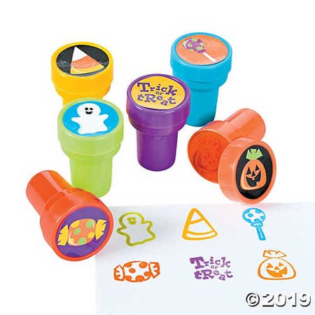 6 ~ Halloween Trick or Treat Stamps / Stampers ~ Approx. 1.5 ~ New / Shrink-wrapped by FX