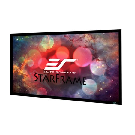 Elite Screens StarFrame Series, 135-inch 16:9, Active 3D - 4K Ultra HD Fixed Frame Home Theater Projector Screen, SF135HW2