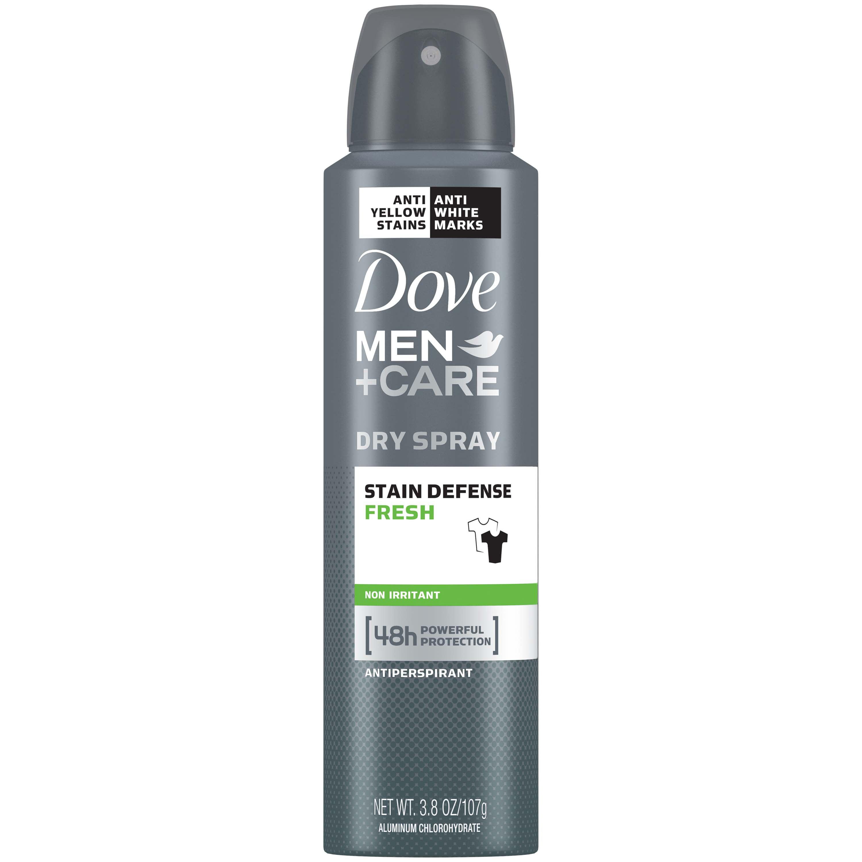 Dove Men+Care Stain Defense Fresh Dry Spray Antiperspirant Deodorant, 3.8 oz