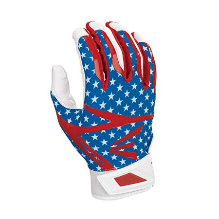 Z7 Hyperskin Batting Pair Gloves, Stars/Stripes, Large, Tacky goatskin leather palm By Easton from