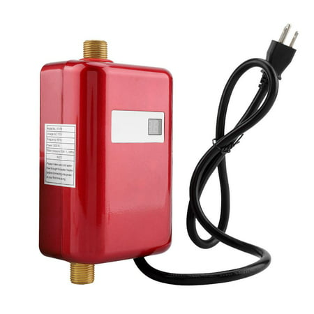 HERCHR Water Heating, 110V 3000W Mini Electric Tankless Instant Hot Water Heater Bathroom Kitchen Washing US, Water Heater