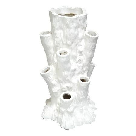 Gold Eagle  Coral Reef White Polyresin Vase
