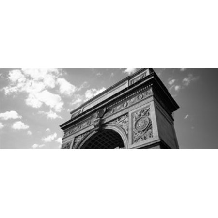 Washington Square Park (Low angle view of an arch Washington Square Arch Washington Square Park Manhattan New York City New York State USA Canvas Art - Panoramic Images (30 x)