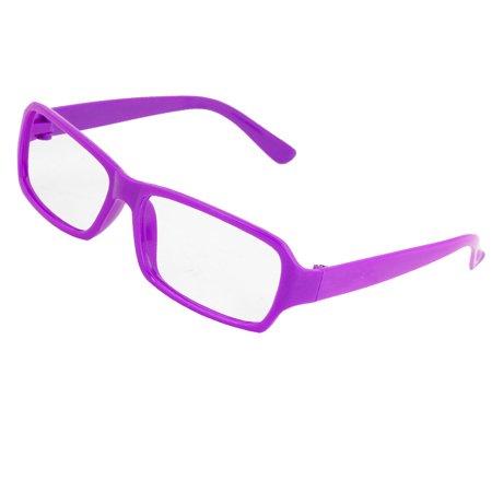 Plastic Temples Full Rim Rectangle Eyeglasses Frame for Women ...