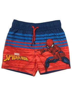 Marvel Boys Avengers Superhero Swim Trunk Shorts Hulk Iron Man Captain America Spider-Man Toddler /& Boys
