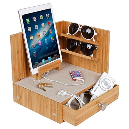 Zen Corner Multi-Device Charging and Sunglass Station with (Sunglass Drawer Insert)