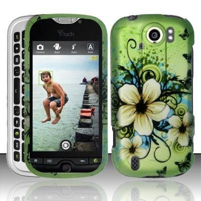 Design Crystal Hard Case for HTC myTouch 4G Slide - Green Hawaiian (Crystal Hawaiian Flower)