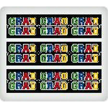 Grad Party Bright Border Edible Image