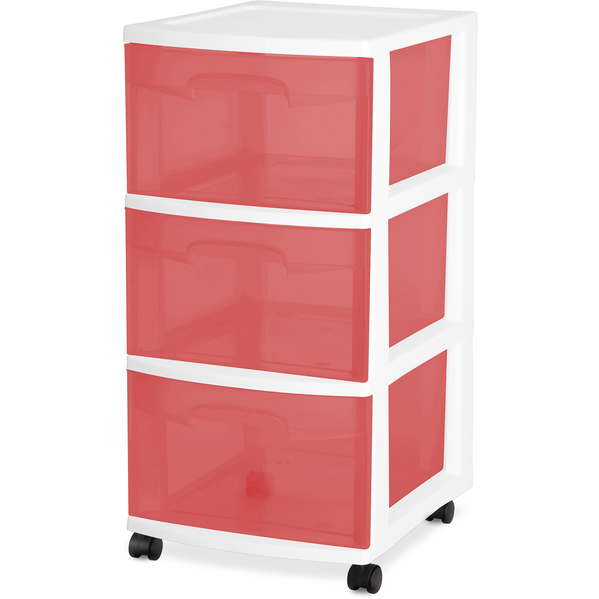 Sterilite 3-Drawer Medium Cart, Set of 2