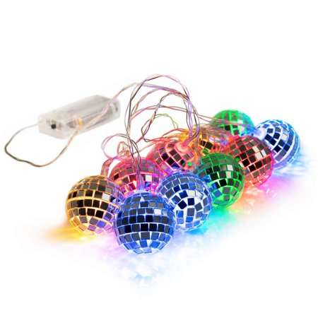 West Ivory Mixed Colors Mirror Ball 15cm Battery Powered