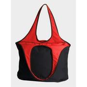Peerless VEST001-Black-Red Village Zipper Tote Bag, Black And Red